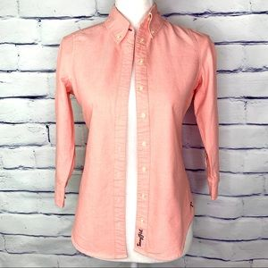 Tommy Hilfiger Tommy Girl Pink Button Down Top XS